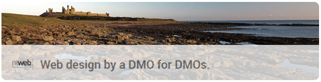 Web design by a DMO for DMOs